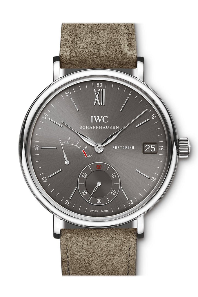 Iwc Portofino Hand-Wound Eight Days In Steel Grey Dial Iw510115 Watch