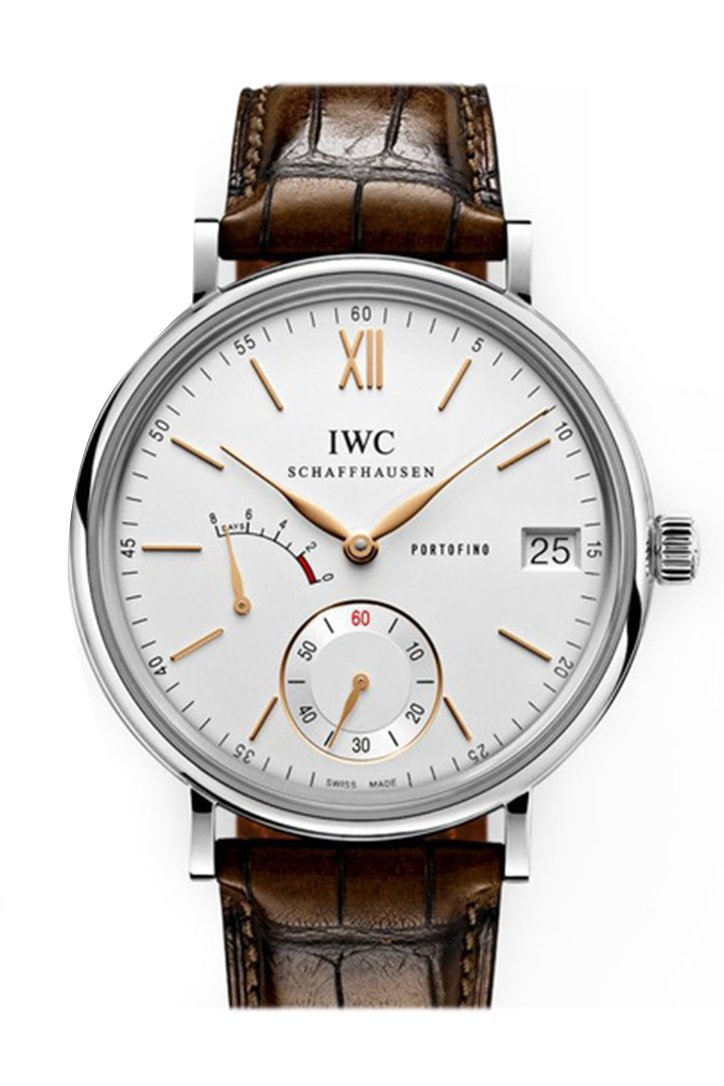 IWC Portofino Hand Wound Eight Days Silver Dial Men's Watch IW510103