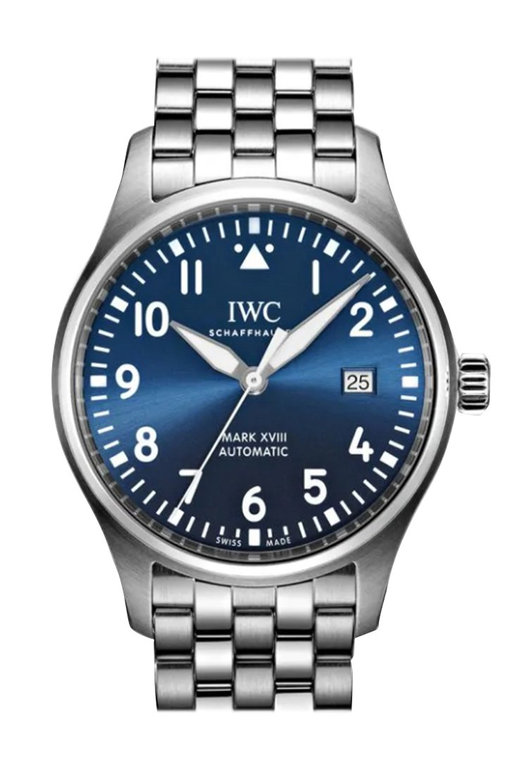 Iwc Mark Xviii Edition Le Petit Prince Blue Dial Automatic Mens Watch Iw327016