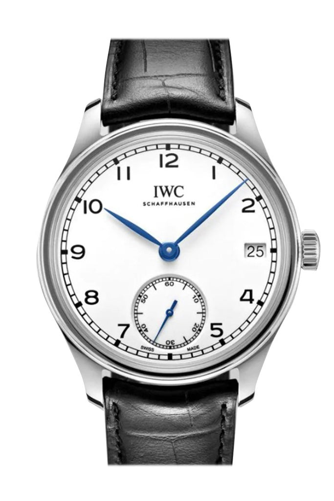 Iwc Portuguese Hand Wind White Dial Mens Watch Iw510212