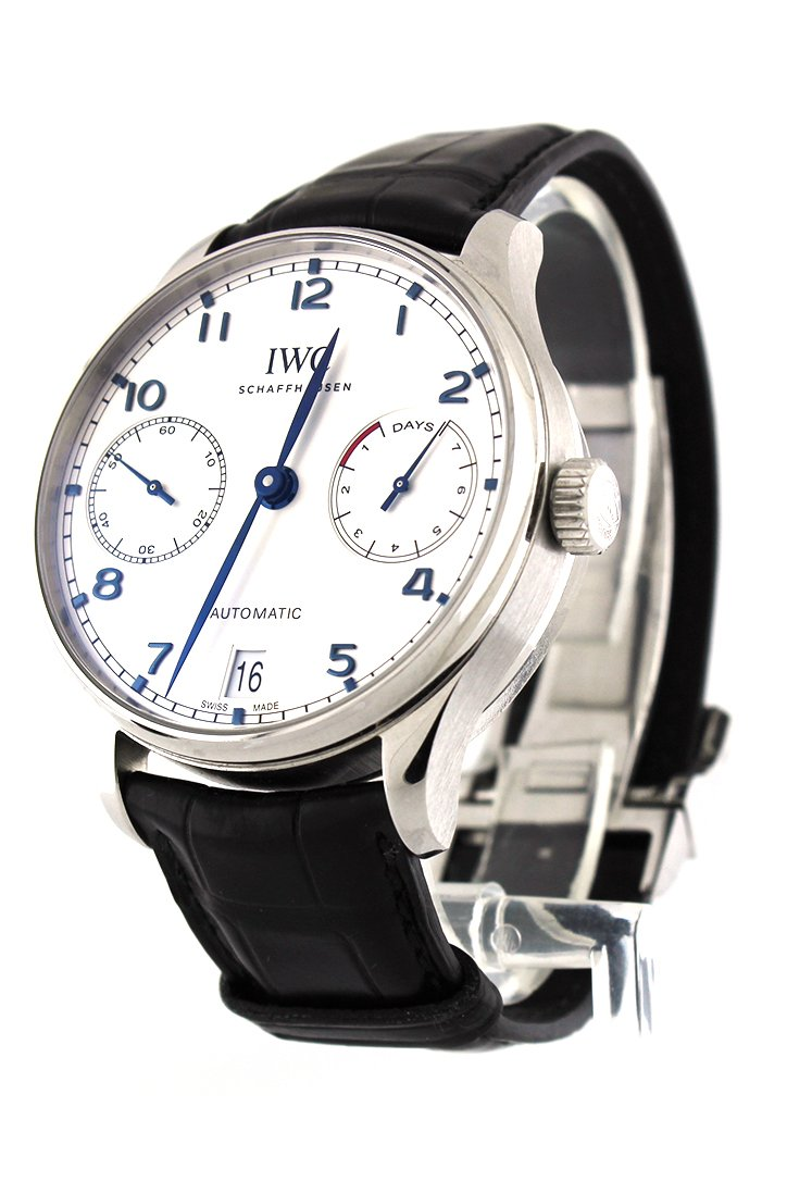 Iwc Portugieser Automatic Silver Dial Mens Watch Iw500705