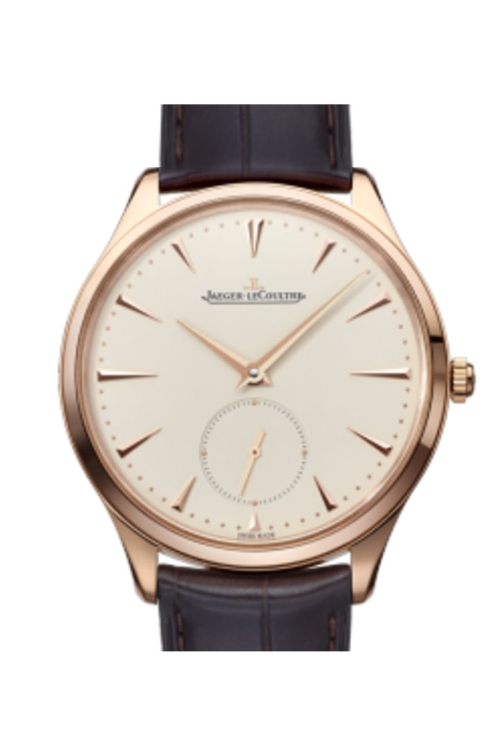 Jaeger Lecoultre Jlc Ultra Thin Rose Gold Mens Watch 1272510 Ivory