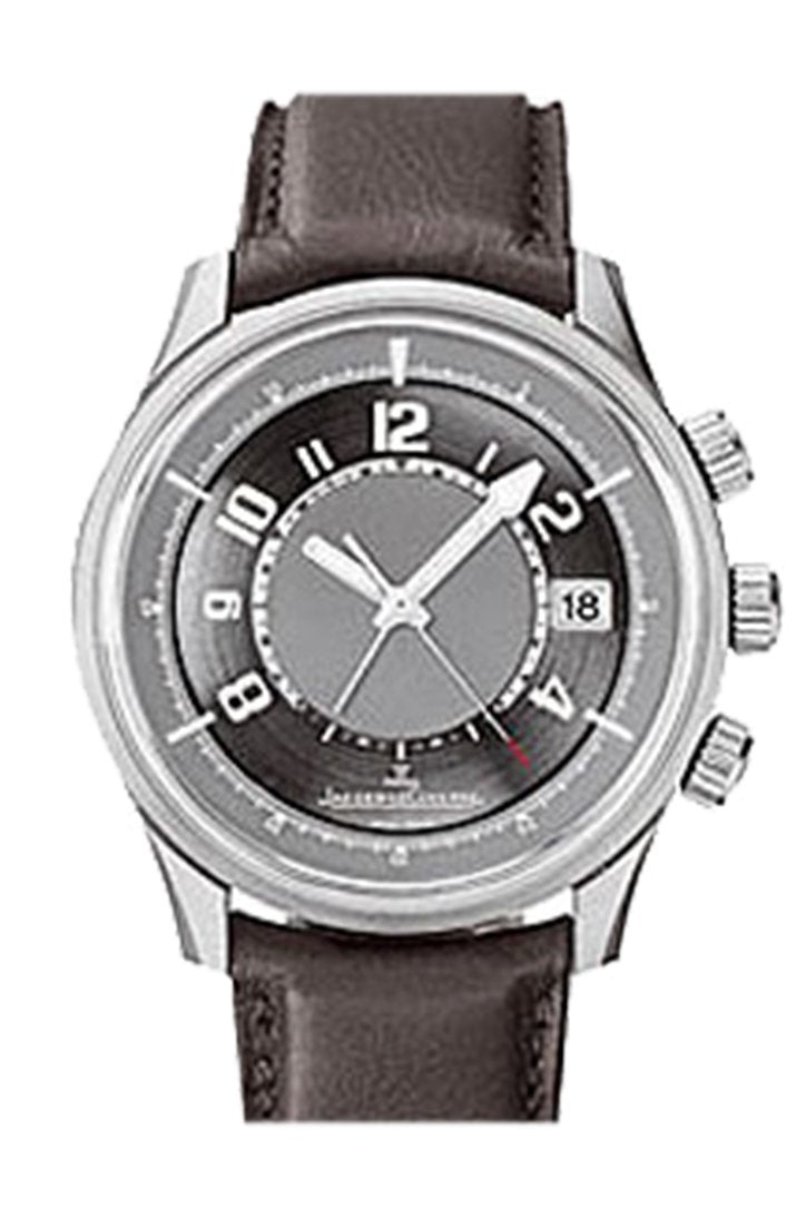 Jaeger Jlc Amvox Brown Leather Grey Dial Watch 190T440