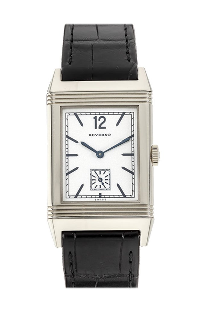 Jaeger Jlc Reverso 1931 White Gold Black Croc Silver Dial 2783520 Watch