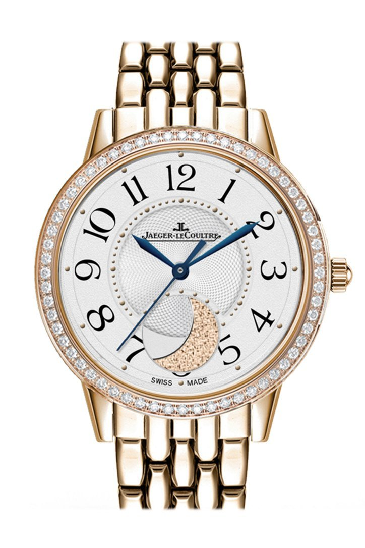 JAEGER JLC Rendez-Vous Rose Gold Silver Dial 3572120