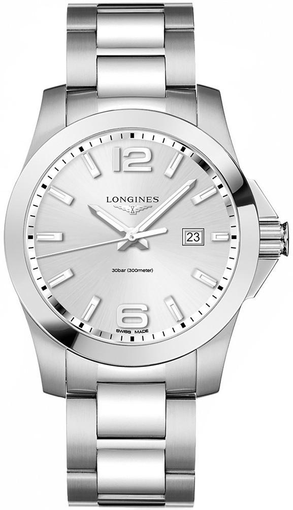 LONGINES Conquest Silver Dial Stainless Steel 43mm Men's Watch L37604766