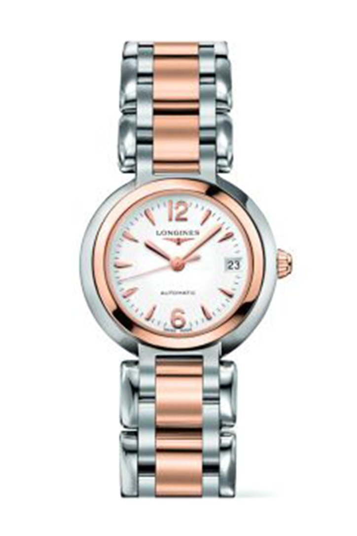 Longines Primaluna Automatic 26.5 Two Tone Pink Arabic L81115166 Watch