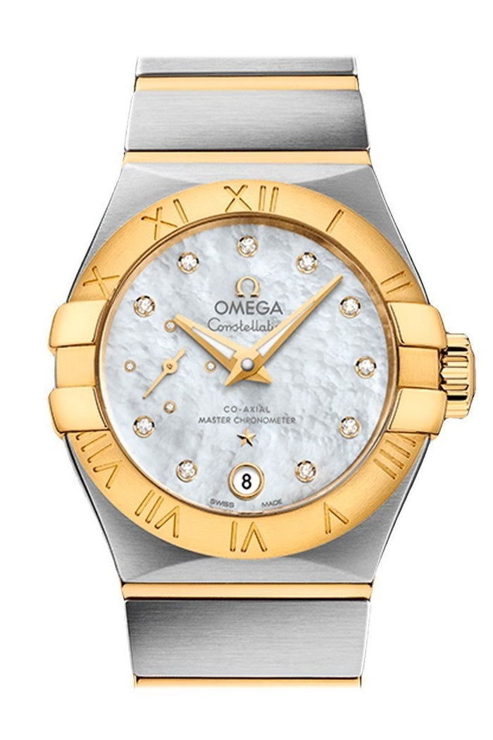 OMEGA Constellation 27mm White Steel Yellow Gold Women Automatic 127.20.27.20.55.002