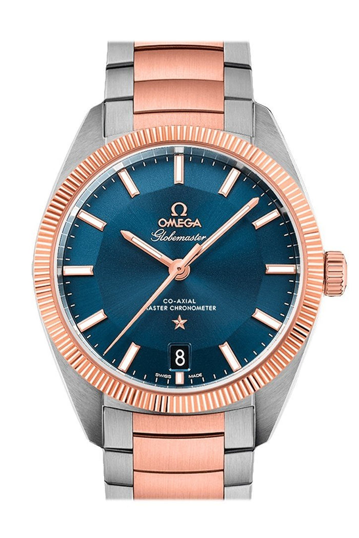OMEGA Constellation Globemaster 39 mm Blue Steel Sedna Gold Men's Automatic 130.20.39.21.03.001