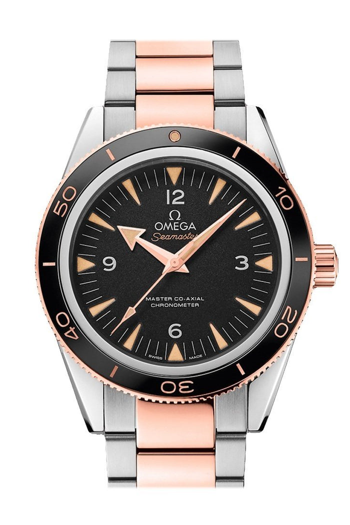 OMEGA Seamaster 300 41mm Black Steel Sedna Gold Men's Automatic 233.20.41.21.01.001