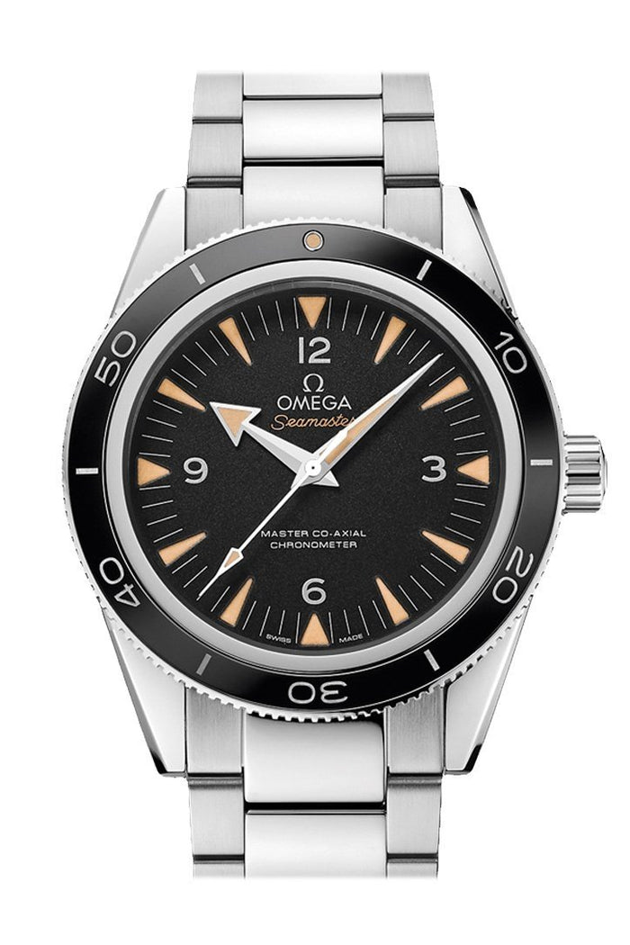 OMEGA Seamaster 300 41mm Black Steel Sedna Gold Men's Automatic 233.30.41.21.01.001