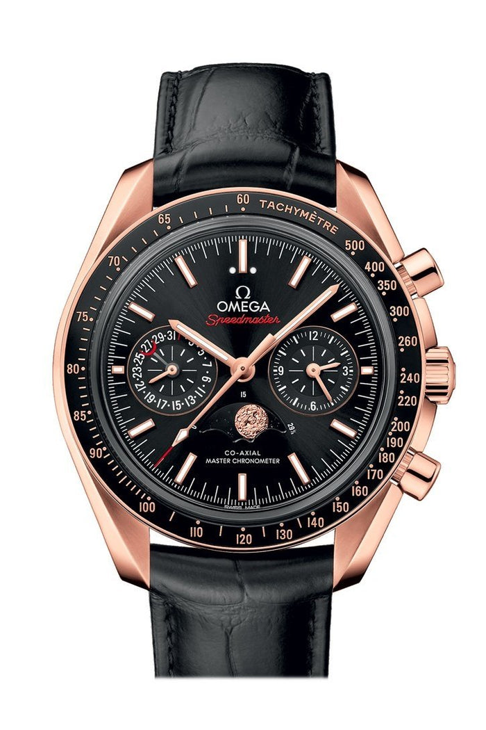 OMEGA Speedmaster Moonwatch 44.5mm Black Sedna Gold Men's Automatic 304.63.44.52.01.001