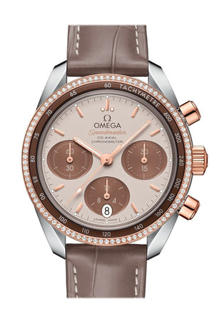 Omega Speedmaster38 38Mm Brown Steel Sedna Gold Mens Automatic 324.28.38.50.02.002 Watch