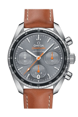 Omega Speedmaster38 38Mm Brown Grey Steel Mens Automatic 324.32.38.50.06.001 Watch