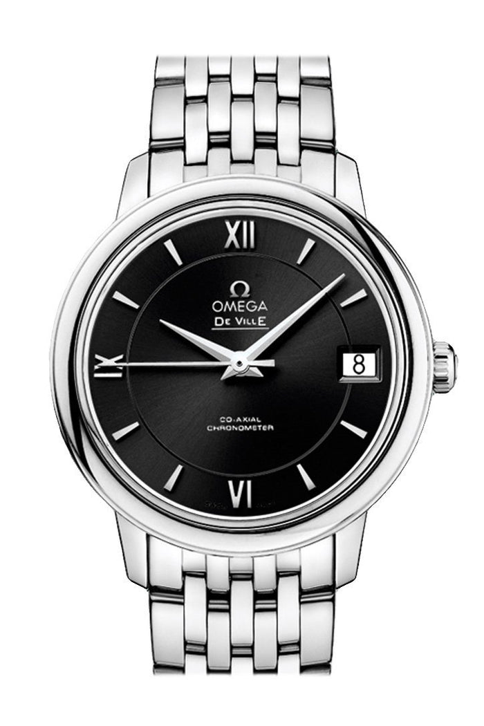 OMEGA Prestige 32.7mm Black Steel Women Automatic 424.10.33.20.01.001