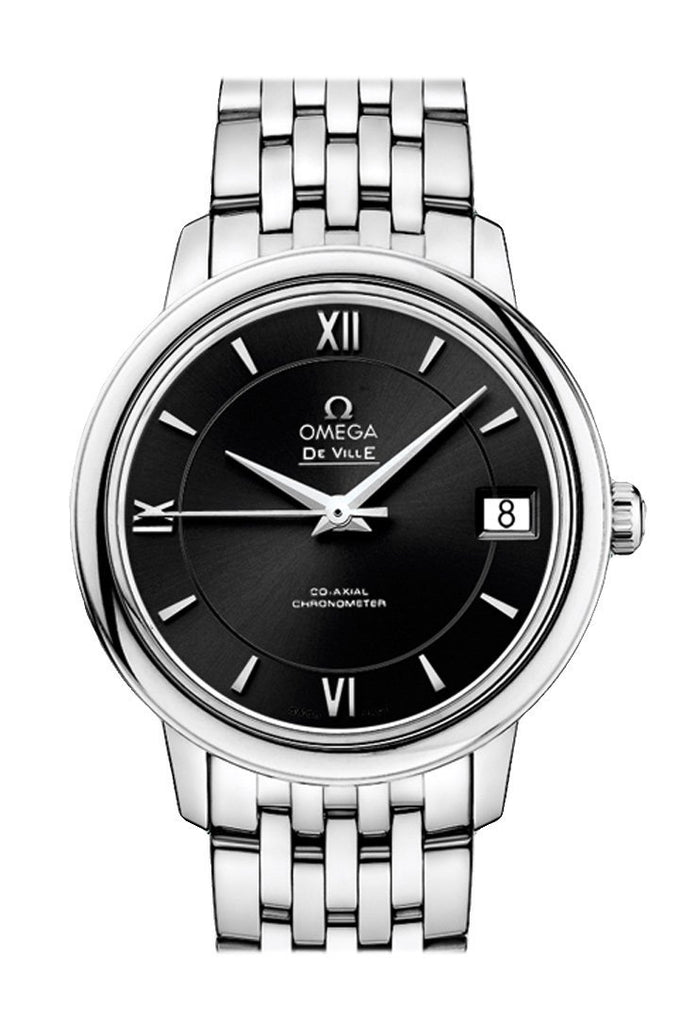 Omega Prestige 32.7Mm Black Steel Women Automatic 424.10.33.20.01.001 Watch