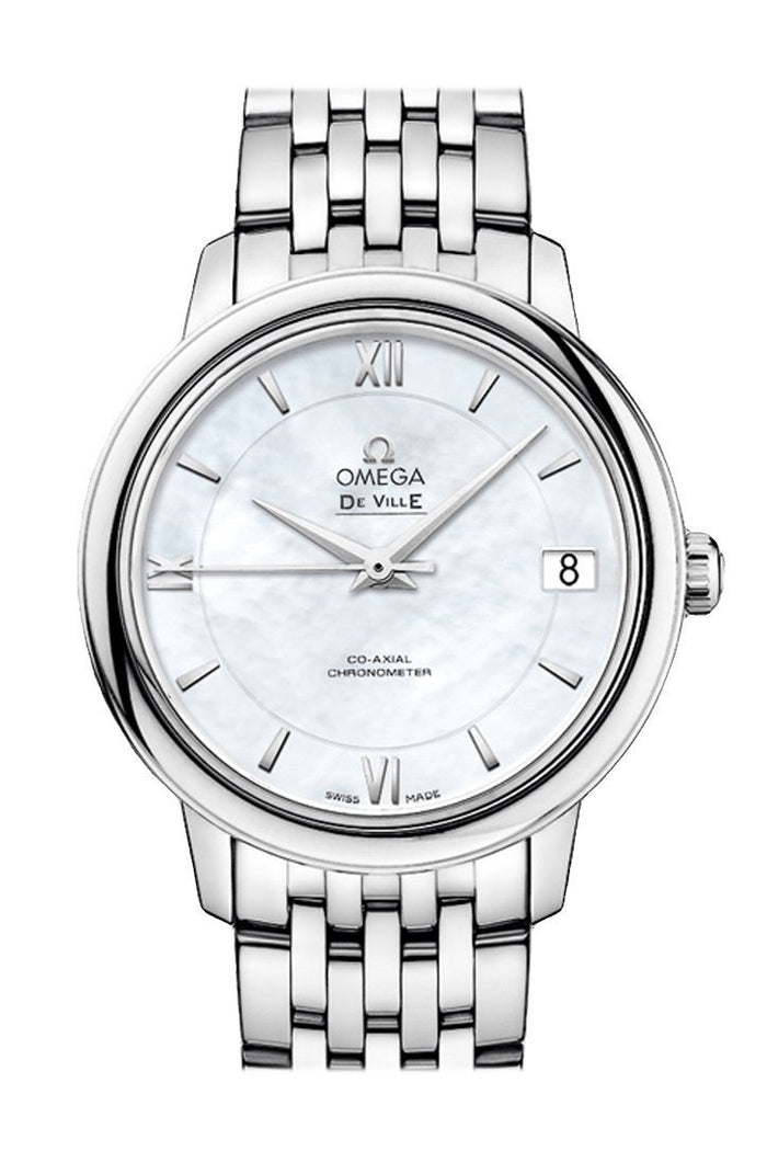OMEGA Prestige 32.7 mm White Steel Women Automatic 424.10.33.20.05.001