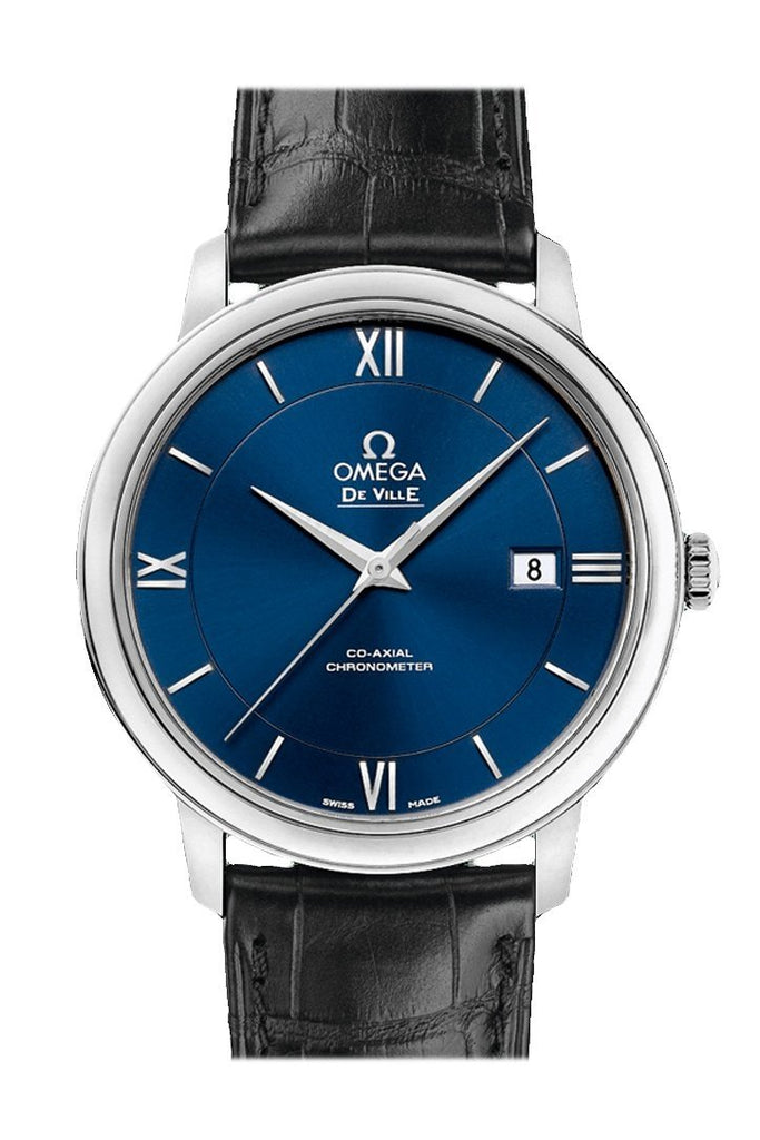 Omega Prestige 39.5 Mm Blue Steel Mens Automatic 424.13.40.20.03.001 Watch