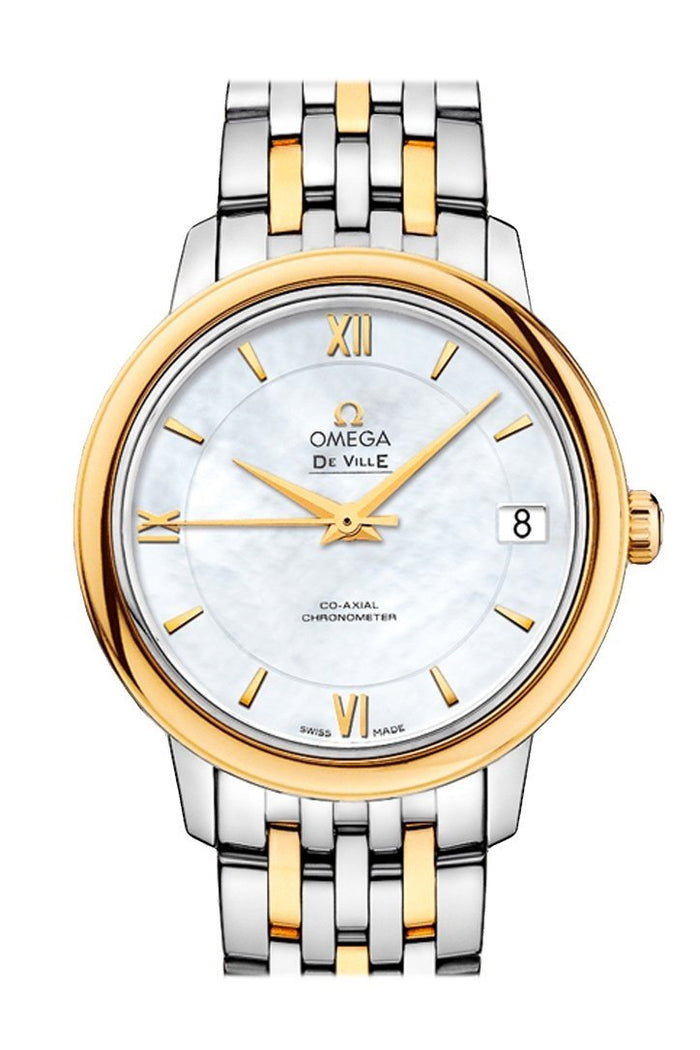 OMEGA Prestige 32.7 mm White Steel Yellow Gold Women Automatic 424.20.33.20.05.001