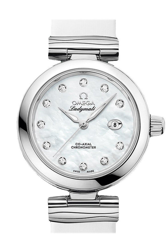 OMEGA De Ville 34mm White Steel Women Automatic 425.32.34.20.55.002