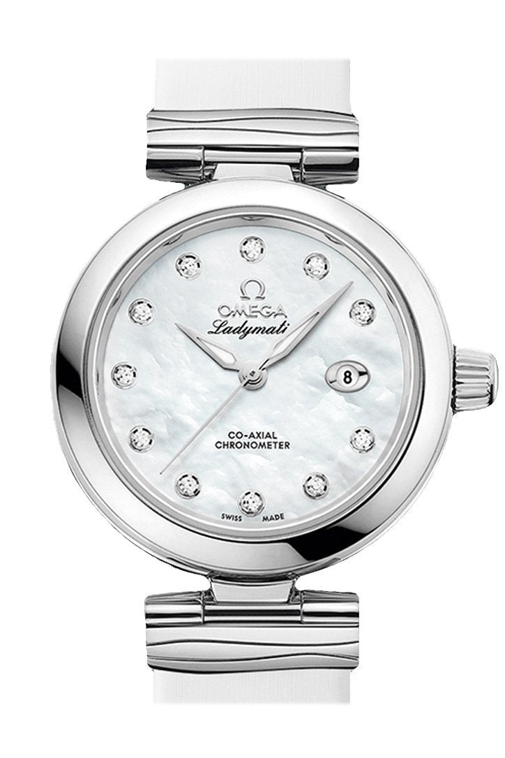 Omega De Ville 34Mm White Steel Women Automatic 425.32.34.20.55.002 Watch