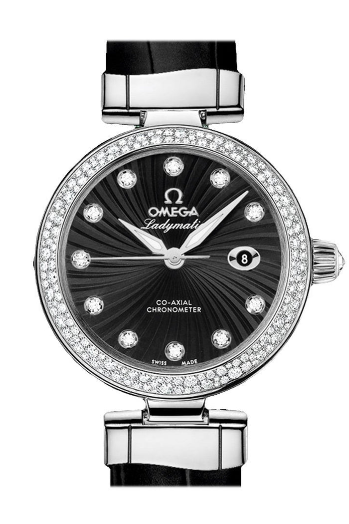 OMEGA De Ville 34 mm Black Steel Women Automatic 425.38.34.20.51.001