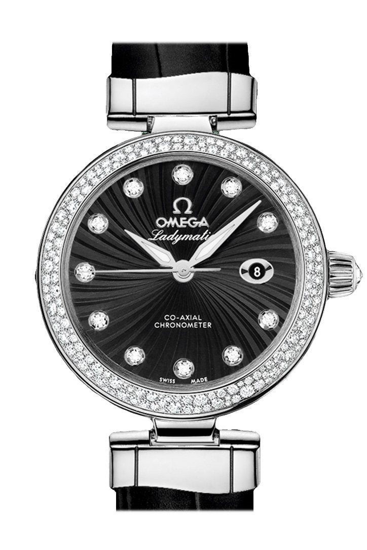 Omega De Ville 34 Mm Black Steel Women Automatic 425.38.34.20.51.001 Watch