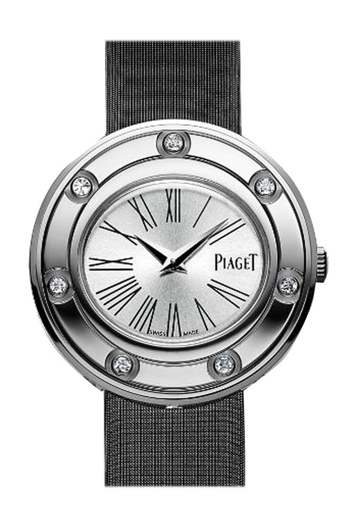 Piaget Possession Silver Dial Black Stain Ladies Watch G0A35085