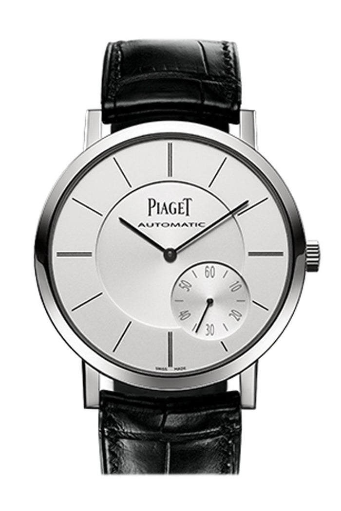 Piaget Altiplano Automatic Silver Dial Black Leather Men's Watch G0A35130
