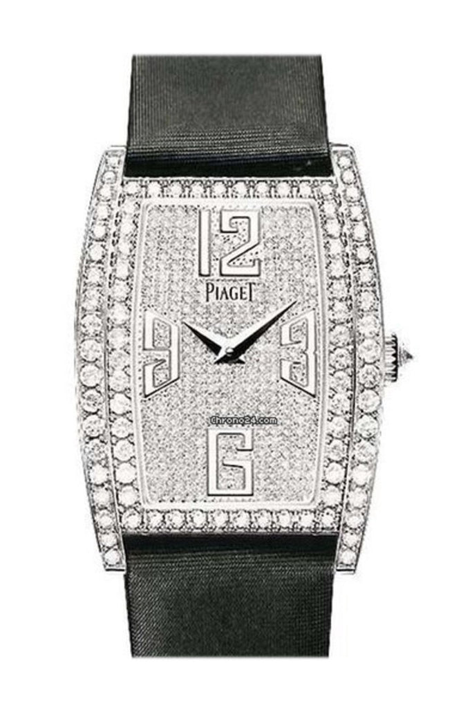 Piaget Limelight Tonneau Wg Pave On Strap Watch G0A36193