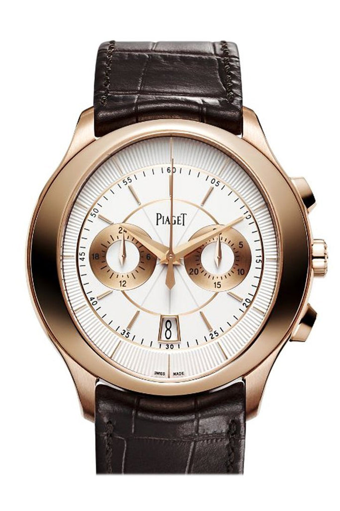 Piaget Gouverneur Automatic Silver Dial Brown Leather Mens Watch G0A37112