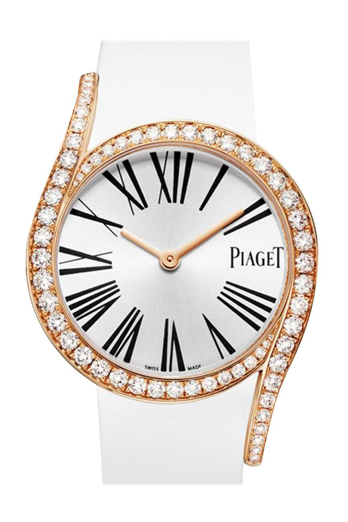 Piaget Limelight Gala 18Kt Rose Gold Diamond Silver Dial Ladies Watch GOA39167