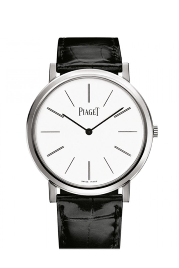 Piaget Altiplano White Dial White Gold Men's Watch GOA29112