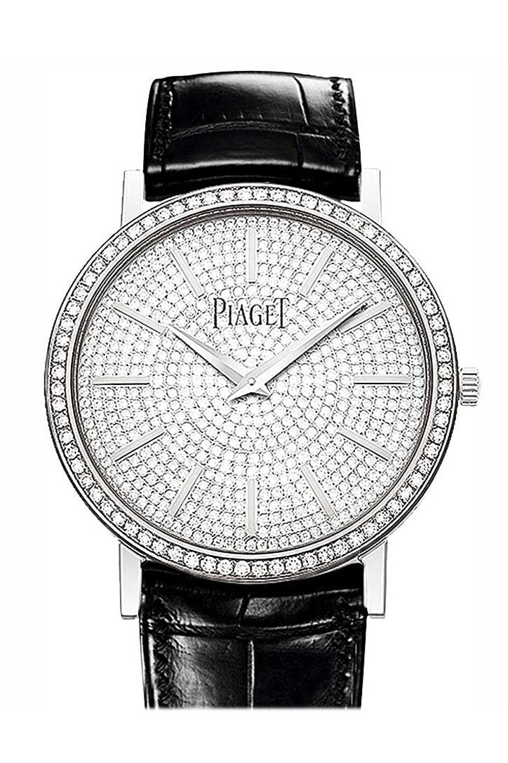 Piaget Altiplano Round In White Gold Diamond Bezel Goa36128 Watch