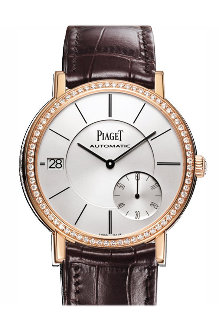 Piaget Altiplano Silver Dial 18K Rose Gold Diamond Men's Watch GOA38139