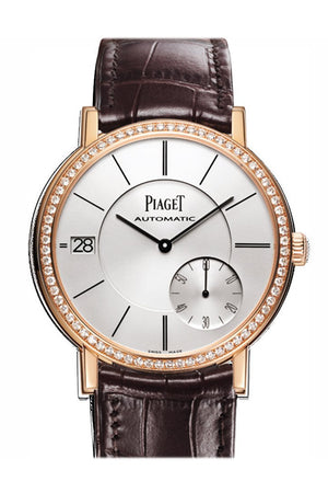 Piaget Altiplano Silver Dial 18K Rose Gold Diamond Mens Watch Goa38139