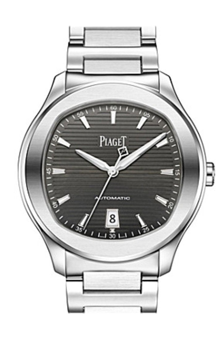 Piaget Polo S Automatic Grey Guilloche Dial Mens Watch Goa41003