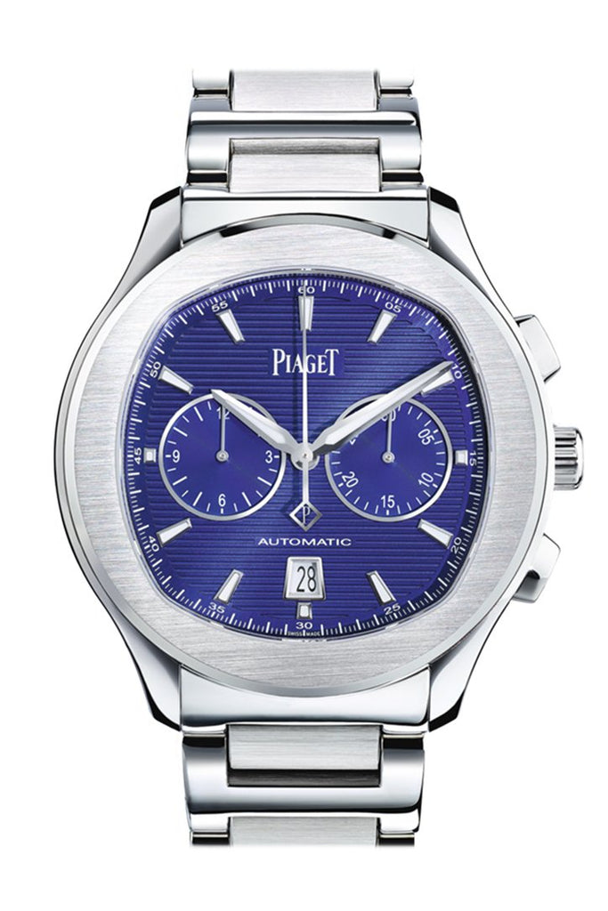 Piaget Polo S Automatic Chronograph Blue Dial Mens Watch Goa41006
