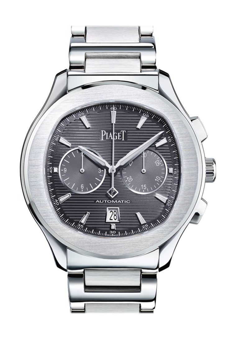 Piaget Polo S Chronograph Automatic Silver Dial Mens Watch Goa42005