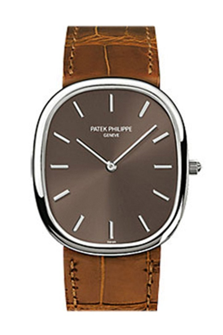 Patek Philippe Golden Ellipse Brown Dial Leather 31Mm Mens Watch 3738/100G-012