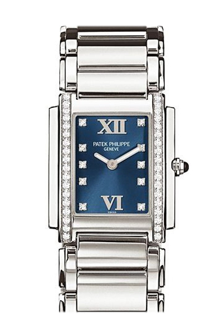 Patek Philippe Twenty Four Blue Dial 30Mm Ladies Watch 4910/10A-012
