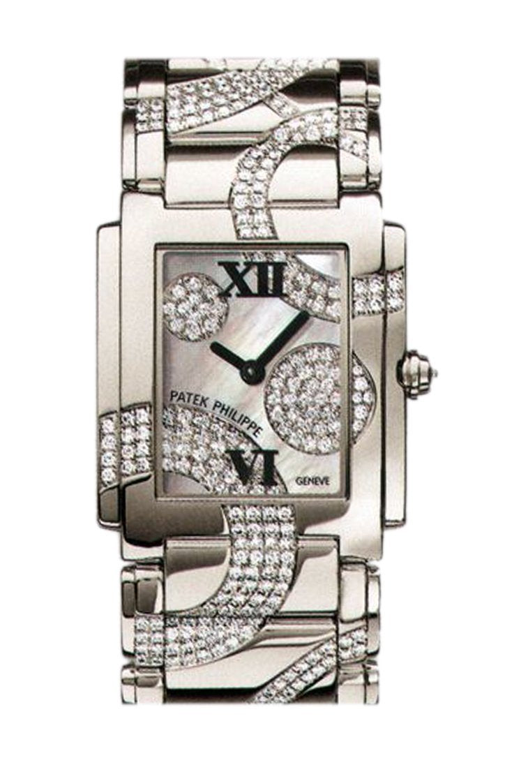 Patek Philippe Twenty Four 30Mm Silver Dial Ladies Watch 4910/49G