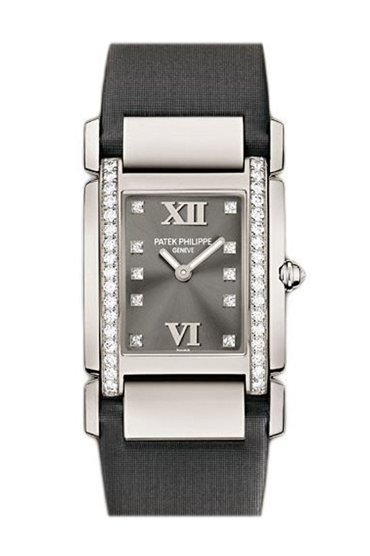 Patek Philippe Twenty Four Medium Eternal Gray Dial 18 Carat White Gold Ladies Watch 4920G-001
