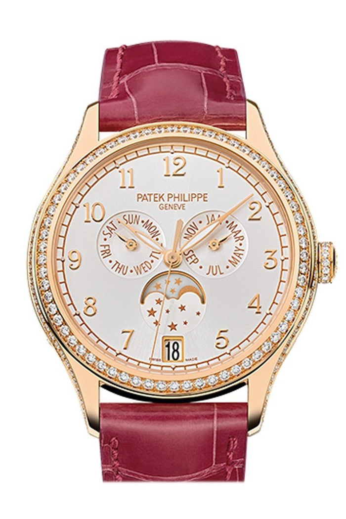 Patek Philippe Complications Silvery Sunburst Dial 18K Rose Gold Automatic 38mm Ladies Watch 4947R-001