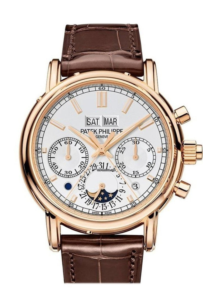 Patek Philippe Grand Complications Chronograph white Dial 38mm Men's Watch 5204R
