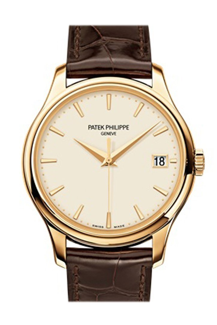 Patek Philippe Calatrava Ivory Dial 18Kt Yellow Gold 39Mm Mens Watch 5227J-001