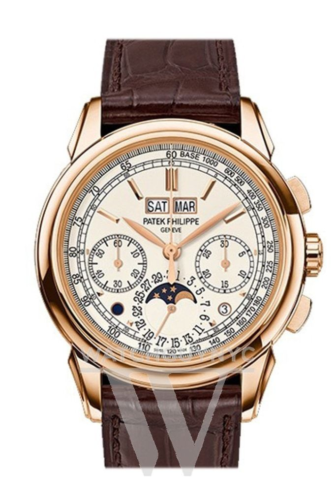 Patek Philippe Grand Complications Silver Dial 18K Rose Gold Mens Watch 5270R-001 Pre-Owned-Watches