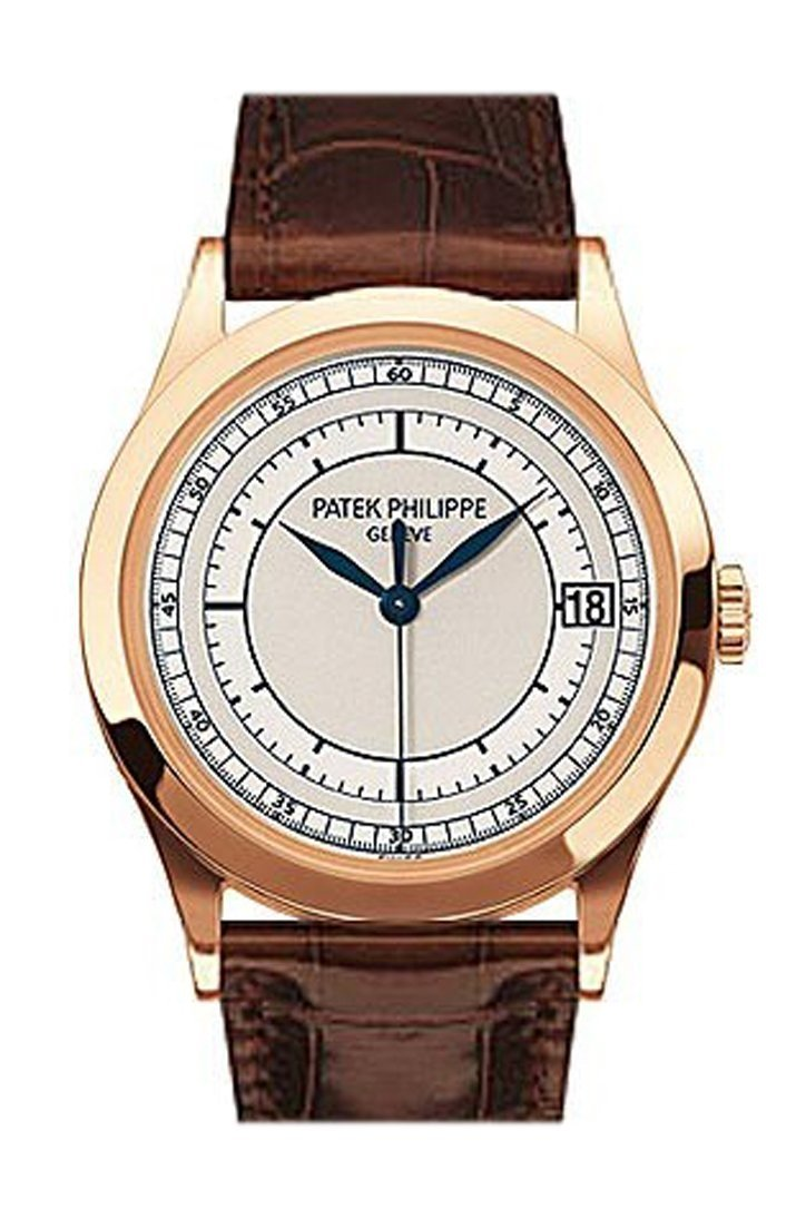 Patek Philippe Calatrava 18K Rose Gold Silver Dial 38Mm Mens Watch 5296R-001