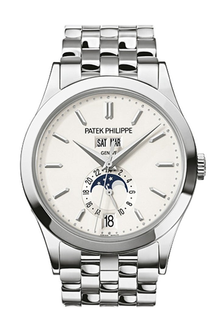Patek Philippe Complications Silvery Opaline Dial White Gold 38mm Men's Watch 5396/1G-010