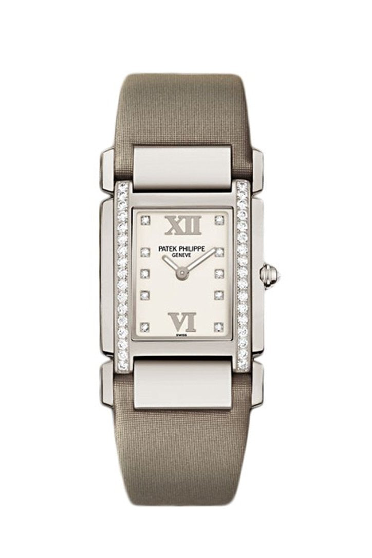 Patek Philippe Twenty 4 Diamond White Dial Gold Ladies Watch 4920G-010